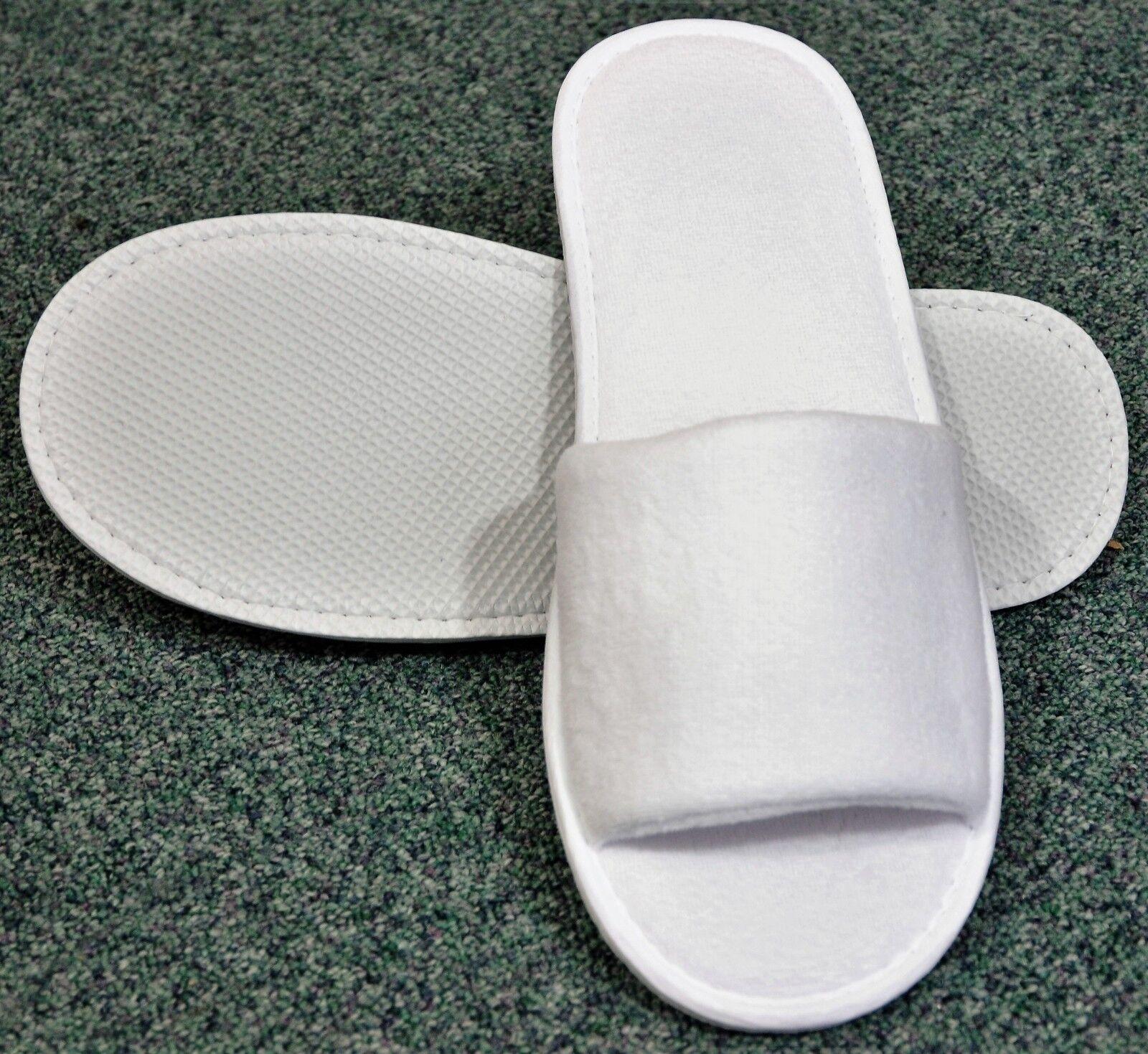 100 White Open Toe Slippers unisex Spa & Hotels