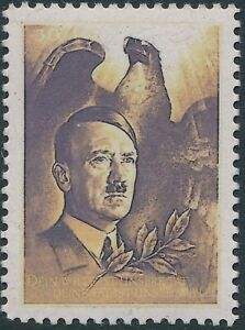 Stamp-Replica-Label-Germany-0049-WWII-Germany-039-Leader-Fuhrer-Hitler-Eagle-MNH
