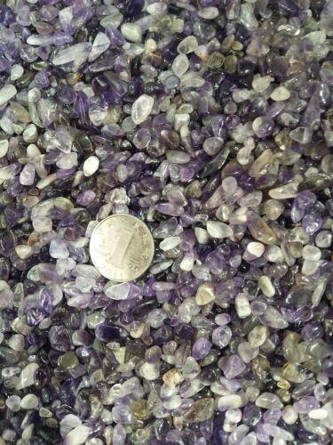 Wholesale 1kg NATURAL amethyst crystals Tumbled particles rock specimens