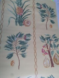 Details About Double Roll Thibaut Wallpaper Pineapples T6440 Run 3 Out Of Print