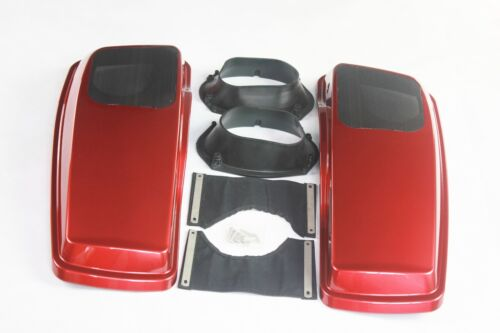 """Wicked red color ABS 6*9 speaker lids for harley 14-18 4.5/"""" extended saddlebags"""