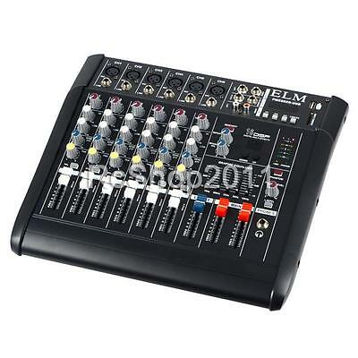 2000 Watt 6 Channel Professional Powered Mixer Power Mixing Amplifier Amp 16DSP