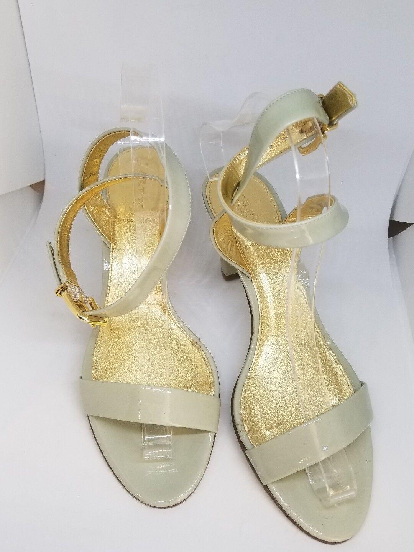 NEW J.Crew Patent Ankle-wrap Heels green sz 7.5