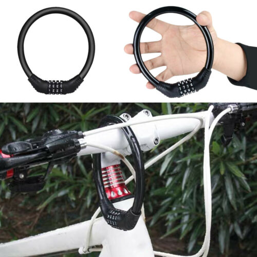 Portable Security Bike Lock 4 Digit Resettable Combination Cable Lock for I3K3