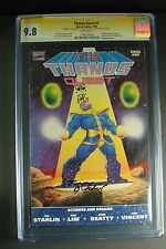 Thanos Quest #1 CGC 9.8 Signature Series SS Dual Jim Starlin Sketch Tom Defalco