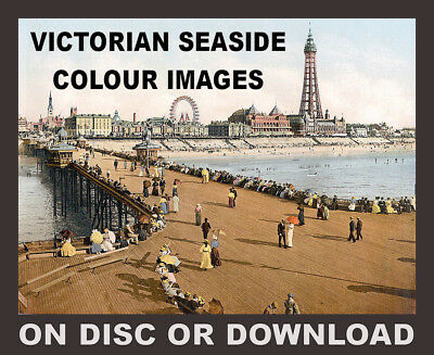 Vintage Edwardian Seaside Photochrome Photo Reprint Littlehampton 2 A4