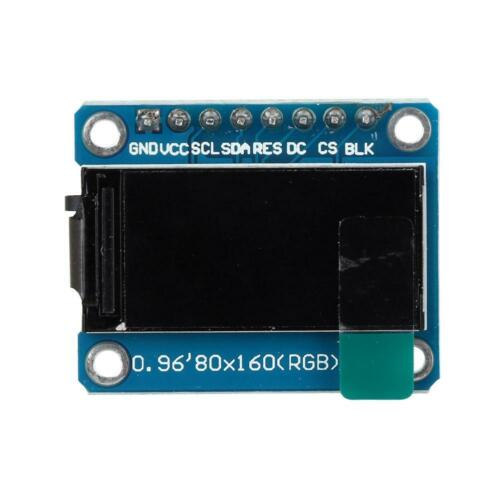 0.96inch 3.3V 80x160 RGB HD Color LCD Display Module Board 4 Holes for Arduino