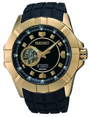 Seiko 5 Automatic Sports Mens Watch Skeleton 4R36 SSA076K1 UK Seller