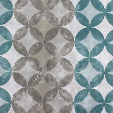 Modern Peel Stick Wallpaper Peacock Blue/Silver/Pewter Self Adhesive Contactpape
