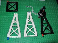 LEGO Black Ninjago 1x6x10 Triangular Support Girder Crane Piece