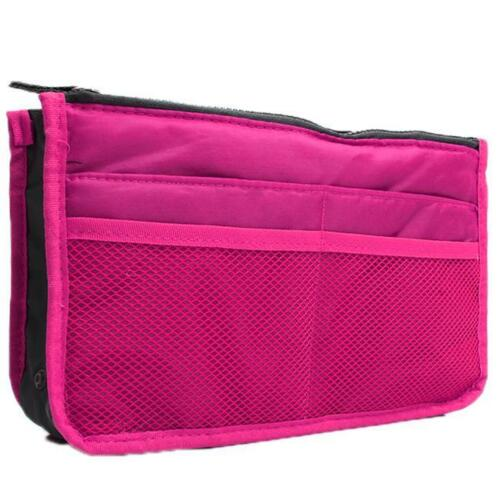 Women Handbag Insert Liner Tidy Makeup Bag Travel Pouch Felt Organiser FA