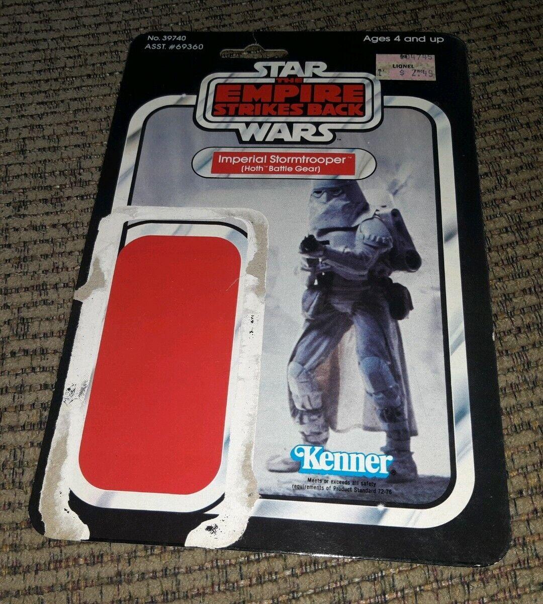 Estrella Wars 1980 Imperial Stormtrooper Hoth Gear Snowtrooper Imperio Tarjeta de batalla