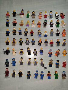 Gros-Lot-Lego-67-minifigurines-Theme-System-City-Vintage-divers