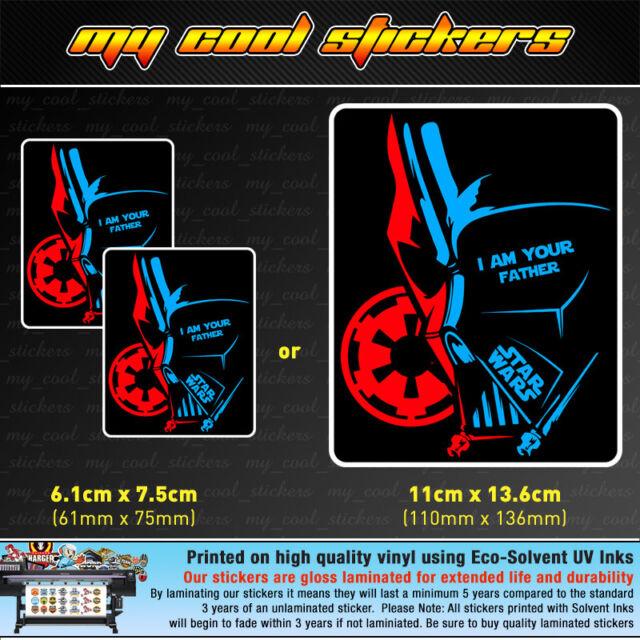 4X4 Car Truck laptop Star Wars Darth Vader I Am Your Father Vinyl Sticker Decal