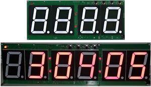 Large Digit LED Real Time Clocks