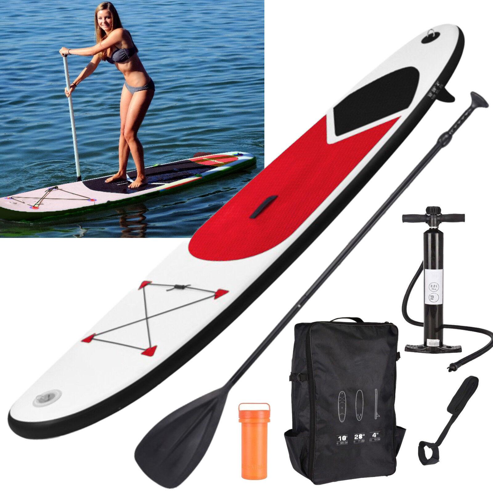 Paddle Board inflable SUP Tabla de Surf Stand Up Set Bomba Correa Bolso De Transporte 10FT