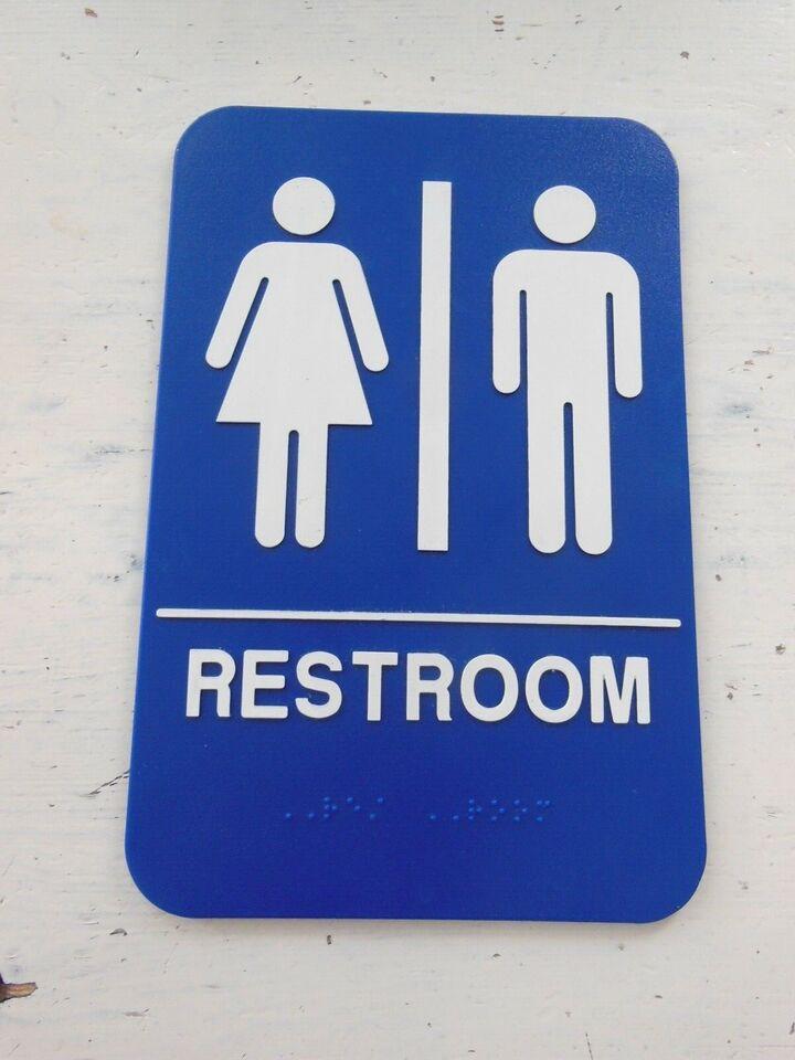 Skilte, USA toiletskilt