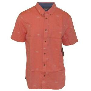Vans-Off-The-Wall-Men-039-s-Dress-Tomato-Houser-S-S-Woven-Shirt-Retail-44-50