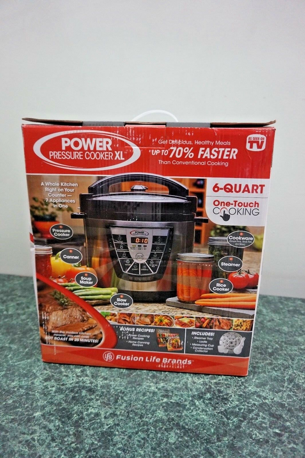 Power Autocuiseur XL 6 Qt Fusion Life Brands 7 appareils dans un