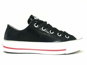 SCARPE-SNEAKERS-DONNA-CONVERSE-CT-OX-212371-PELLE-NERO-ORIGINALE-AI-NEW