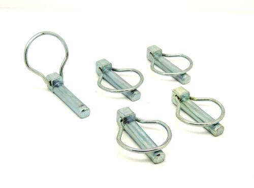 Alta Calidad Paquete De 5 x Pasadores de pera con anillo abatible 11 mm Ø Pin X 44.5 mm