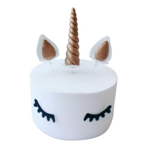 4.5*2cm Unicorn Eyelash Cake Topper Kids Birthday Cake Decoration Party Gift DIY
