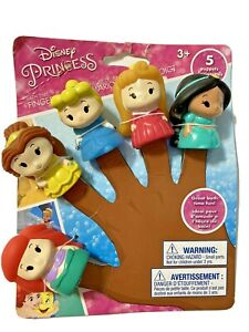 Disney-Princess-5-Bath-Time-Finger-Puppets-Jasmine-Belle-Ariel-Cinderella-Auroa