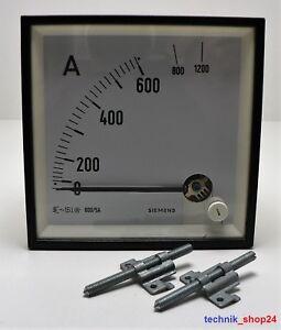 Siemens-Amperimetro-600-5A-1604E-M01604-E4400-ZU02B13-Sobrecarga-2FACH-Nuevo