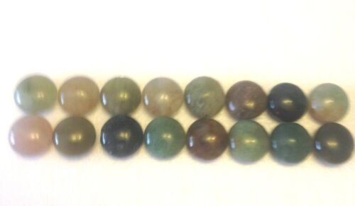 16 Gorgeous Coin Shaped Indian Agate Gemstone Beads 8 mm