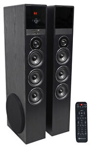 Tower-Speaker-Home-Theater-System-w-Sub-For-Sony-Smart-Television-TV-Black
