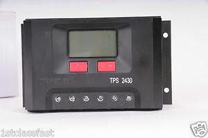 SOLAR-PANEL-24V-30A-BATTERY-CHARGE-CONTROLLER-REGULATOR-W-VOLT-AMP-amp-LOAD-LED