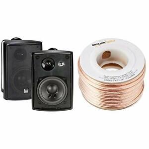 Outdoor Speakers Weatherproof Outside Pair 2 100 Watts 3 Way Stereo Landscaping