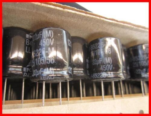 5 105 ° 18x20mm 4 pièces Epcos Elko Condensateur 22 µf 450 v ra7