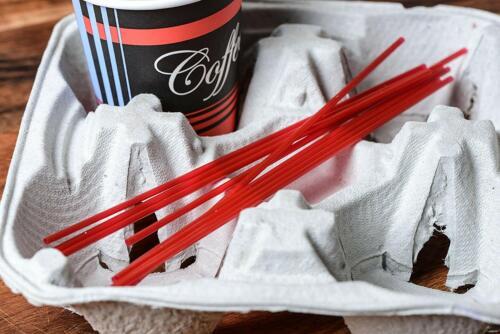 5000 Pack 8 in Red Plastic Coffee Stirrers Straws Cocktail Sip Stir Sticks
