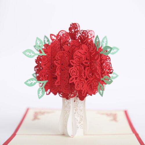 3D Greeting Card Handmade Birthday//Valentine//Christmas//Wedding Invitation