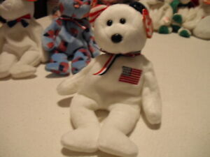 TY BEANIE BABIES RED JACK AMERICA UNION BENJAMIN SPANGLE LIBERTY LEFTY RIGHTY