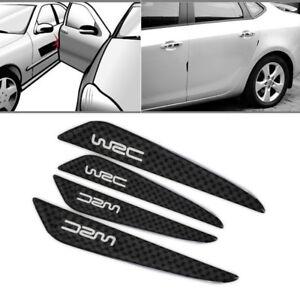 4pcs Silver Carbon Fiber Car Side Door Edge Protection Guard Trim Sticker Hot !