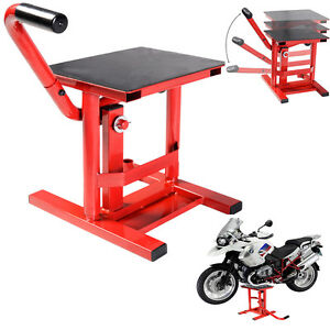 dirt bike motocross motorcycle lift stand moto x mx maintenance steel enduro ebay. Black Bedroom Furniture Sets. Home Design Ideas