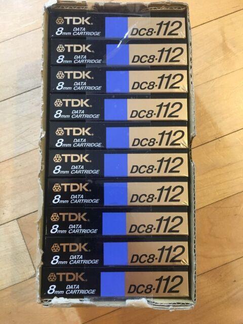 10 New TDK DC8-112 Data Tape Cartridges 112M 8mm 2GB/4GB 8mm