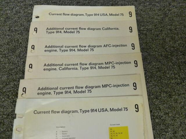 1975 Porsche 914 Coupe Electrical Wiring Diagram Service