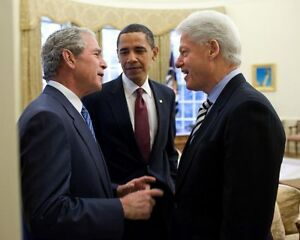 PRESIDENT-OBAMA-BUSH-AND-CLINTON-IN-OVAL-OFFICE-8x10-SILVER-HALIDE-PHOTO-PRINT