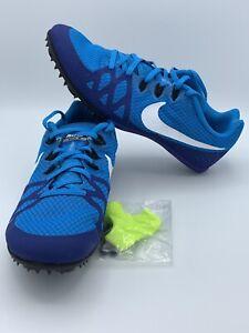 buy online 2e421 f57e7 Image is loading Nike-Zoom-Rival-M-8-Mens-Blue-Track-
