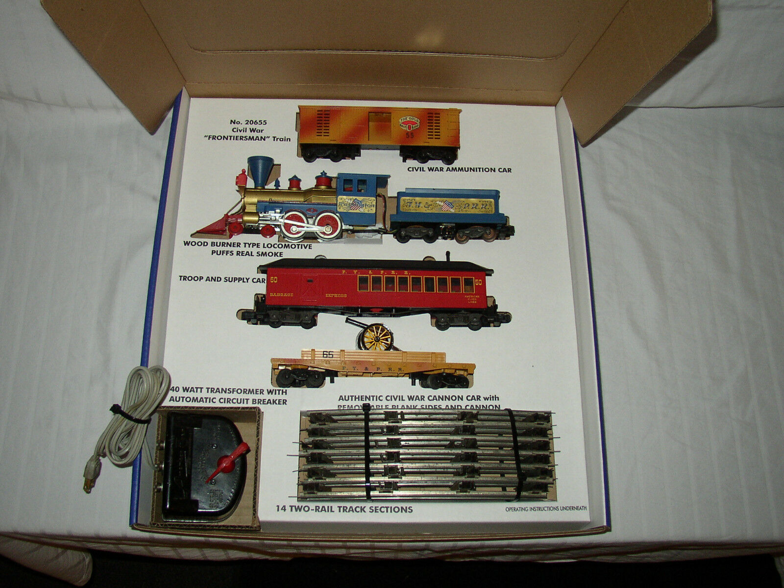 AMERICAN FliegenER REPRO 20655 WASHINGTON SET BOX + INSERTS ONLY NO TRAINS & CARS