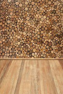 rundholz wand bohlen boden fotografie hintergr nde 1x1 5m vinyl foto kulissen ebay. Black Bedroom Furniture Sets. Home Design Ideas