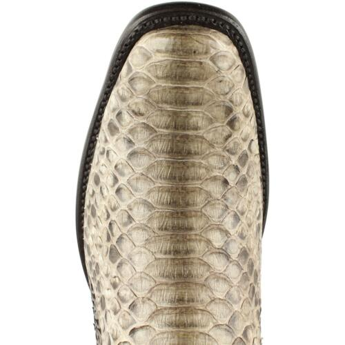 King Exotic RUSTIC BROWN Genuine PYTHON SNAKE Western Boot Dubai Square Toe EE