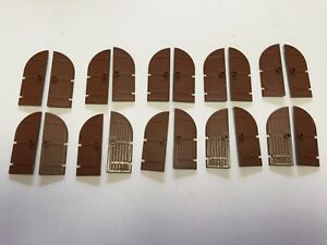 Cemetery Castle Gates Lot of 10 Multiple Lots Avail. LEGO Gold Iron Gate