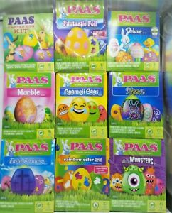 PAAS Decorating Kit EASTER EGG Coloring Kit FOOD SAFE DYE BRAND NEW ...