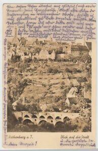 43600-Foto-AK-Rothenburg-ob-der-Tauber-Tauberbruecke-vor-der-Stadt-1948