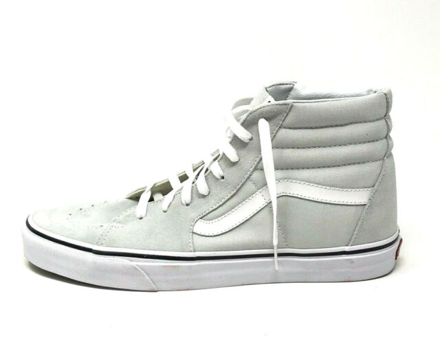 db487d9bd5 VANS Sk8 Hi Ice Flow True White High Top Suede Shoes Womens 9 Mens ...