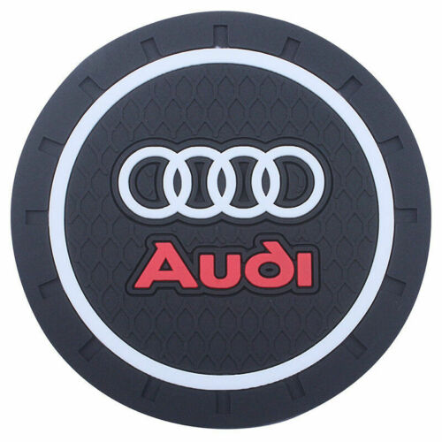 US SELLER COASTER 2PC 2.75/'/' SILICONE CAR CUP HOLDER AUTO INSERT FOR AUDI